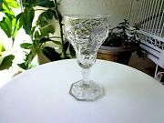 Mckee Glass Rock Crystal Clear Water Glass C 1915 - 1944