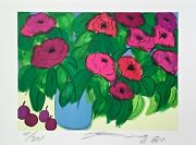 Flowers Limited Edition Lithograph Walasse Ting