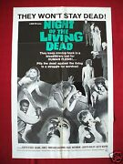 Night Of The Living Dead 1968 Original Movie Poster George A. Romeroand039s Halloween
