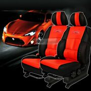 Sports Bucket Seat Cushion Cover Leather Ergonomic Red 2p For Universal Car