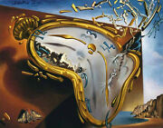 Salvador Dali Soft Watch At The Moment Of Explosion Vintage Print