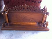 Thai Old Vintage Luxury Wood Classic Home Office Shop Sign Advertise Furniture