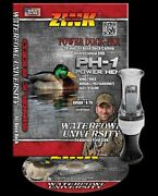 Zink Calls Ph-1 Power Hen Smoke/ Black Poly Single Reed Duck Call And Dvd Combo