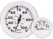 New Dress White Series Faria Instruments 13110 2 Water Temp Gauge 100-250 F