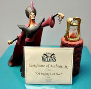 Wdcc Aladdin Villains Collection - Jafar Oh Mighty Evil One Limited Edition