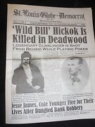Jesse James, Cole Younger Historical Newspaper