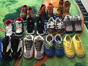 12 Pairs Baby Boy's Shoes And Polo Shirts And Sweaters Also 9 Pairs Of Pants