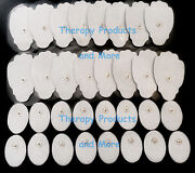Tens Pads Electrodes 16 Lg + 16 Sm Oval W/ High Conductivity Self-adhesive Gel