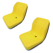 2 Yellow High Back Seats For John Deere Gator Diesel 4x2, 4x4, Hpx, Th And 6x4