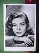 Lauren Bacall Autograph Photo To Mary A Wwii Army Wac 1945 In Original Envelope