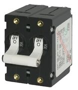 New A-series Double Pole Ac/dc Circuit Breaker Blue Sea Systems 7242 50a White