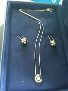Fortunoff Diamond And 14k Gold Necklace And Earrings