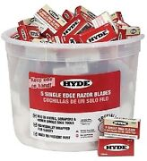New Razor Blade Pail Hyde Tools 49500 Contains 100 Packs Of 5