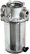 New Arg Raw Water Strainer Groco Arg-2000-s Ports 2 Npt Basket Stainless 14 X