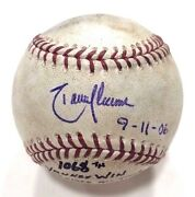 Randy Johnson Signed Insc 9-11-06 Game Used Baseball From Torreand039s 1068th Win Jsa