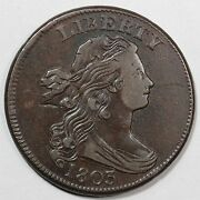 1803 S-253 R-2 Mds Draped Bust Large Cent Coin 1c