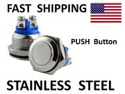 Momentary Push Button Switch N.o. Normally Open Contacts Ss Stainless Steel Boat