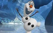 Olaf Disney Frozen 2013 Stretched Canvas Wall Art Movie Poster Film Print