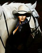 Just The Two Of Us By David Devary Cowgirl Horse Giclee