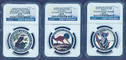 Australia Outback 2015 1/2oz Silver Colorized 3-coin Set Collection Ngc Sp70