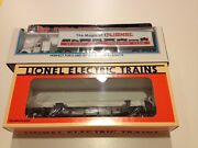 Lionel 52099 And 52104 1996 Lrrc St Louis Flat Car W/lrrc Tractor And Trailer Nib