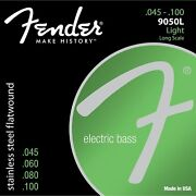 Fender 9050l Stainless Steel Flatwound Long Scale Light Bass Strings 45-100