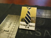 Vintage Heisman Trophy Pin Number 14 Heavy Made First I Have Ever Seen Football