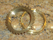 Ford Transmission 1939 - 48 Pair Of Brass Synchro Rings Synchronizer 81a-7107