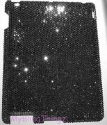 For Ipad Air 2 16ss Jet Hematite Diamond Bling Back Case W/ Crystals