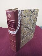 1801 Small Folio Bible Printed New York By M.l. And W.a. Davis- Snakeskin Bindng