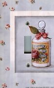 Light Switch Plate And Outlet Covers Bathroom Decor Bath Salts Floral Frame