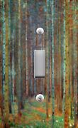Light Switch Plate And Outlet Covers Klimt Pine Forest 01