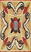 Light Switch Plate And Outlet Covers Tile Pattern Bohemian Rooster 1