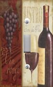 Light Switch Plate And Outlet Covers Bistro Wine List Glass And Bottle