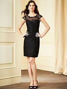 Womenand039s Black Lace Alfred Angelo Dress Size 0 Runs A Little Bigger