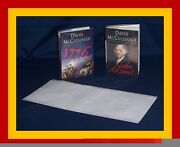 50 - 9 X 19 Brodart Archival Fold-on Book Jacket Covers - Super Clear Mylar