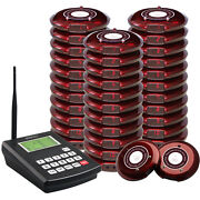 Singcall Wireless Hotel Paging Coaster System Guest Waiting System 30 Bells