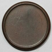1849 Likely Beleved Edges Blank Planchet Large Cent Coin 1c Ex Dan Holmes