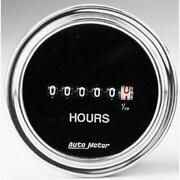 Auto Meter Hour Meter Gauge 2587 Traditional Chrome Hourmeter 2-1/16 Electric