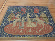 5x7 French Tapestry Oriental Area Rug/carpet Mythical Wall Hanging Lady/unicorn