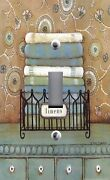 Light Switch Plate Outlet Covers Laundry Room Linens Folded Towels