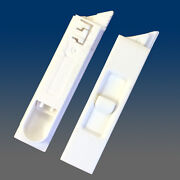Set Of 2 White Recessed Window Sash Tilt Latches 1-left And 1-right 7380rd