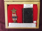 1855 German Nt With 1861 Post Chaplainandrsquos Medal - Civil War Bible- Grand Army