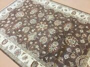 6 X 9 Brown Ziegler Oriental Area Rug Hand Knotted All Over Floral Wool