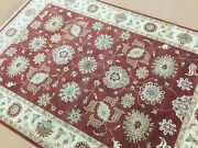 5.5 X 7.9 Classic Red Ziegler Oriental Area Rug Hand Knotted All Over Floral