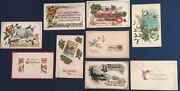 Lot Of 9 Vintage Christmas And New Years Postcards Mailed Between 1909-1915
