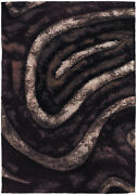 5x8and039 Chandra Rug Flemish Hand-woven Contemporary Shag Polyester Fle51113-576