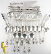 Eloquence By Lunt Sterling Silver Flatware Set 45 Pieces Great Condition