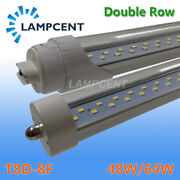 4pcs/pack 8ft 48w 64w T8 T10 T12 Led Tube Light Bulbs Fa8 Single Pin R17d 6400lm