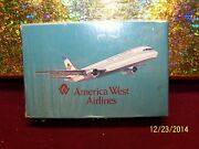 Vintage American West Airlines Advertising Playing Cards/ Deck Set Hong Kong Mib